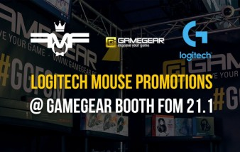 Logitech promotions @ GameGear booth