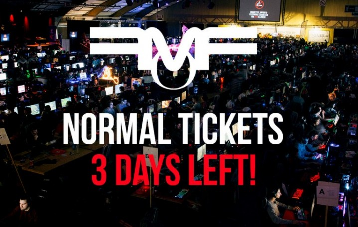 Only 3 days left for Normal ticket sale!